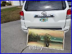 Vintage John Maynor Highwaymen Florida Landscape Oil Painting signed Lil John