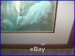 Vintage Julian Ritter Painting Print Showgirl Reclining Nude Woman Signed NICE