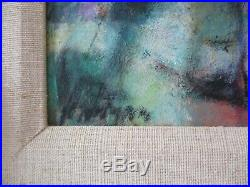 Vintage Kero Antoyan Painting Abstract Expressionism Modernism Cubism Armanian