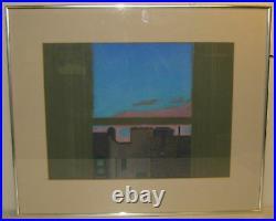 Vintage LEONARD PETRILLO Mid Century Modern BROOKLYN WINDOW Painting Listed