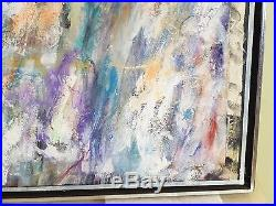 Vintage LYRICAL ABSTRACT EXPRESSIONIST OIL PAINTING MID CENTURY MODERN Signed