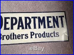 Vintage Lowe Brothers Paint Department Sign Double Sided Metal