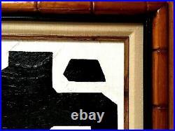 Vintage Mid Century Abstract Minimalist Painting
