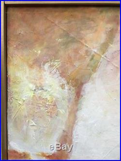 Vintage Mid Century Abstract Oil Painting Framed Signed