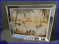 Vintage Mid-Century Flamingo Picture by Turner Wall Mirror #88