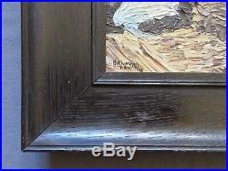 Vintage Mid-Century Impressionist Seascape Oil Painting, Signed