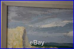 Vintage Mid Century Impressionistic Southwest Landscape Oil Painting Signed