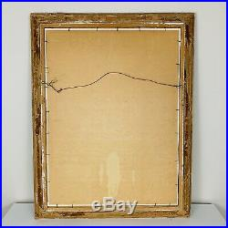 Vintage Mid-Century Modern Abstract Original Venice Canal Painting Signed 1978