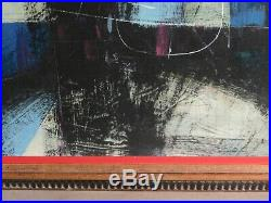 Vintage Mid Century Modern Painting Carnival Bubble Man Abstract Larry Godwin