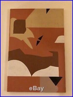 Vintage Modern Abstract Painting American Artist Signed HERBERT O. BEADLE 1960