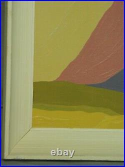 Vintage Modern Miriam Ruth Sernoff Abstract Colorist Israeli Landscape Painting