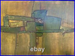 Vintage Modern Original Abstract Painting By Artist Kathryn Keir
