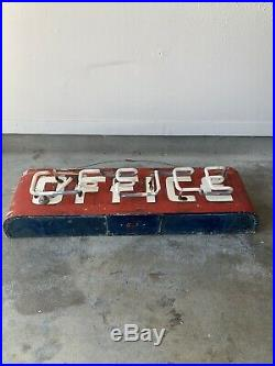Vintage Neon Sign Motel Gas And Oil / Beautiful Condition And Paint. One Break
