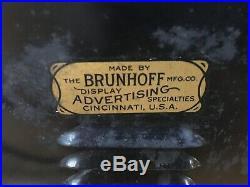 Vintage OLD READING BEER Reverse Paint Embossed Lighted Advertising Sign Display