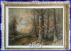 Vintage Oil On Canvas Painting Signed By Artist Brauer