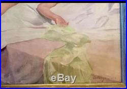 Vintage Oil On Canvas Painting Signed By Artist George Catargi