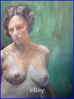 Vintage Oil Painting 1930s Female Nude Signed McCloy Yale Educated