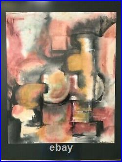 Vintage Oil Painting-Abstract/Cubism-Modernist/Mid Century Modern