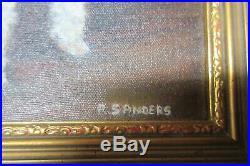 Vintage Oil Painting JEUDI Toy Poodle Dog Sanders Kentucky Artist Gold Frame