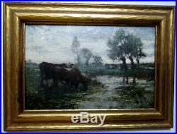 Vintage Oil Painting Listed American Artist Franklin Dehaven (1856-1934)