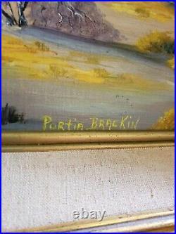 Vintage Oil Painting-Mountain/Desert Landscape