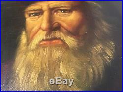 Vintage Oil Painting Portrait Old Gentlemen Noble Lord Wittlesey Signed santa