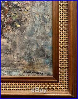 Vintage Oil Painting Signed (Akira Kurosawa)
