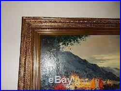 Vintage Oil Painting Signed Bevort BEAUTIFUL