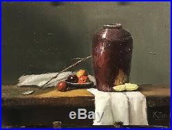 Vintage Oil Painting Still Life Fruit Decor