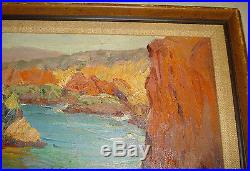 Vintage Oil Painting by Jean Mannheim -Morro Bay- Signed Original