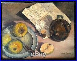 Vintage Oil Painting'still Life' Created In 1950s Magnificent Quality Signed