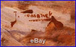 Vintage Oil painting Fall in the Lake Michigan Dunes Joseph Tomanek Indiana