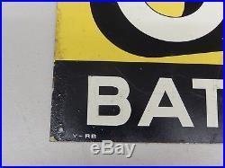 Vintage Original Aluminium and Paint I Told Em Oldham Batteries Sign Franco