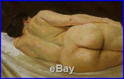 Vintage Original Artist Signed Nude Study Oil Painting, No Reserve