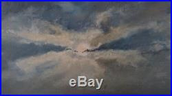 Vintage Original Extra Large Seascape Oil Painting Nautical Waves Signed Clune