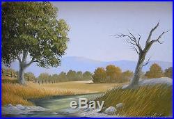 Vintage Original Framed Oil Painting American West Landscape Signed Listed Speck