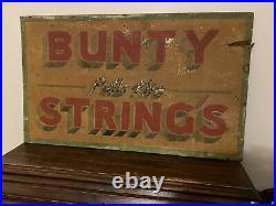 Vintage Original Hand Painted Fairground Ride /Circus Sign BUNTY PULLS