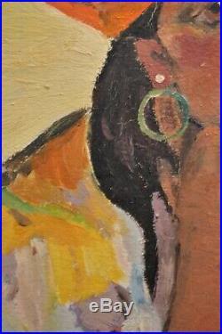 Vintage Original Oil Painting Isabele Crane Gypsy Girl Portrait 1932