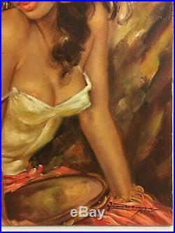 Vintage Original Oil Painting Portrait J H Lynch Tretchikoff Charles Roka Style