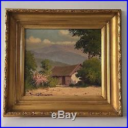 Vintage Original Oil Painting by Chilean Artist (Signed) Landscape