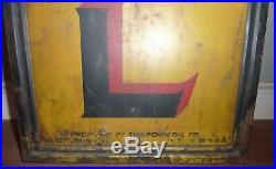 Vintage Original Painted Metal PENNZOIL OIL Framed Sign