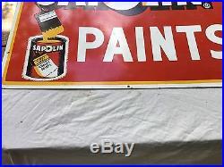 Vintage Original Sapolin Paints Metal Sign 34 X 25
