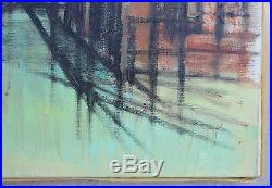Vintage Original Signed Listed Oil Painting Modernist Japanese Ken Yoshioka