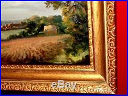 Vintage Original Signed Max Hofler, listed Oil Painting English Rural Landscape