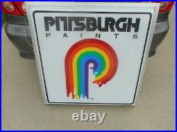 Vintage PITTSBURGH PAINTS Lighted Plastic Store Dealer Advertising SIGN