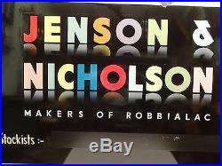 Vintage Paint Varnish Advertising Sign Jenson & Nicholson Porcelain Enamel Sign