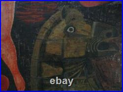 Vintage Painting Abstract Nude Expressionism Horse Cubist Cubism Massari 1960's