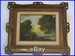 Vintage Painting By Raymond Bayless California American Regionalism River Man