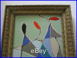Vintage Painting Contemporary Abstract Expressionism Non Objective Modernist Pop