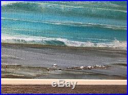 Vintage Painting Ocean Seascape Minimalist Large Listed Artist Tom Fentress